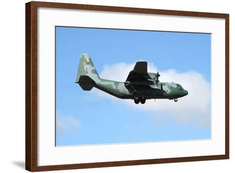 Brazilian Air Force C-130 Hercules Prepares for Landing-Stocktrek Images-Framed Art Print