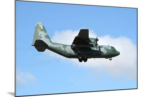 Brazilian Air Force C-130 Hercules Prepares for Landing-Stocktrek Images-Mounted Photographic Print