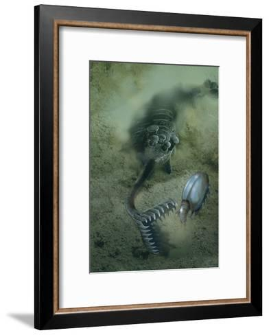 A Fearsome Opabinia Found in the Middle Cambrian Burgess Shale Formation-Stocktrek Images-Framed Art Print