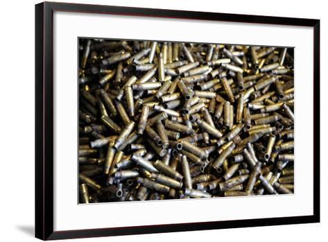 Empty 7.62Mm Brass Casings-Stocktrek Images-Framed Art Print