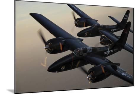 F7F Tigercats Flying over San Antonio, Texas-Stocktrek Images-Mounted Photographic Print