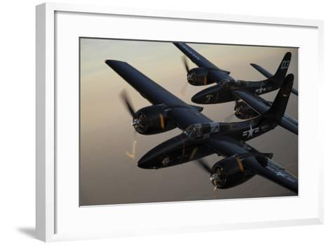 F7F Tigercats Flying over San Antonio, Texas-Stocktrek Images-Framed Art Print