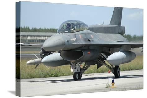 F-16D from the Hellenic Air Force Armed with Agm-88 Harm Missile-Stocktrek Images-Stretched Canvas Print