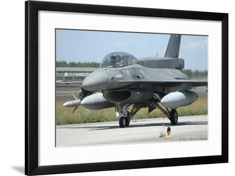 F-16D from the Hellenic Air Force Armed with Agm-88 Harm Missile-Stocktrek Images-Framed Art Print