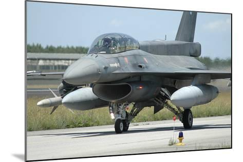 F-16D from the Hellenic Air Force Armed with Agm-88 Harm Missile-Stocktrek Images-Mounted Photographic Print
