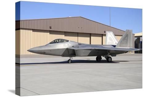 U.S. Air Force F-22A Raptor Taxiing at Holloman Air Force Base-Stocktrek Images-Stretched Canvas Print