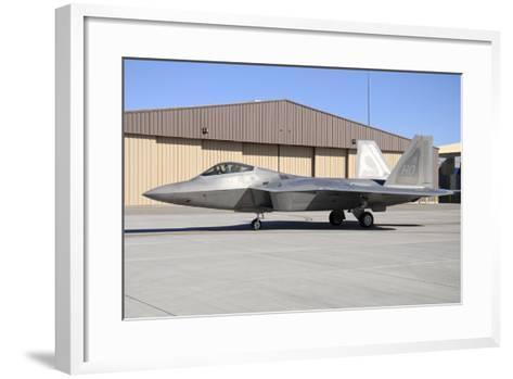 U.S. Air Force F-22A Raptor Taxiing at Holloman Air Force Base-Stocktrek Images-Framed Art Print
