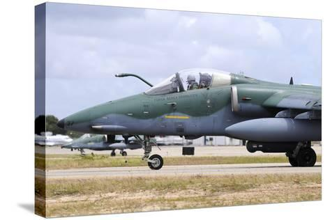 Brazilian Air Force A-1A (Amx) Taxiing at Natal Air Force Base-Stocktrek Images-Stretched Canvas Print