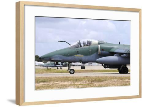 Brazilian Air Force A-1A (Amx) Taxiing at Natal Air Force Base-Stocktrek Images-Framed Art Print