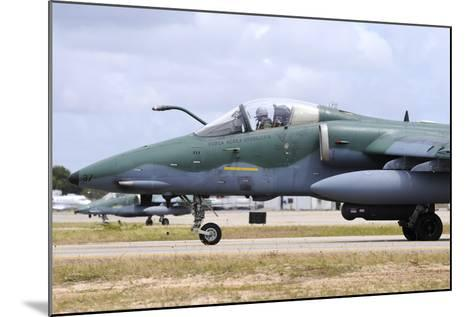 Brazilian Air Force A-1A (Amx) Taxiing at Natal Air Force Base-Stocktrek Images-Mounted Photographic Print