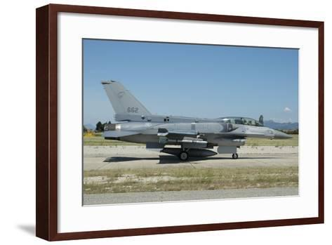 F-16D Falcon from the Republic of Singapore Air Force-Stocktrek Images-Framed Art Print