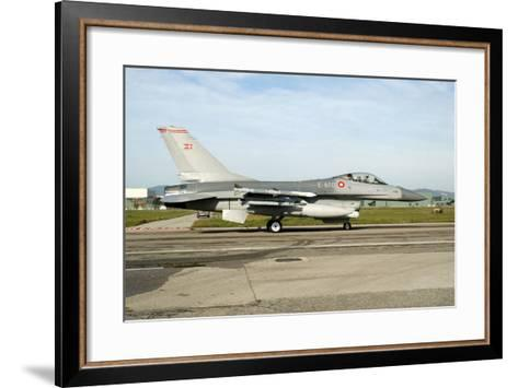 F-16A Mlu Falcon from the Royal Danish Air Force Taxiing at Grosseto Air Base-Stocktrek Images-Framed Art Print