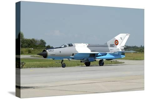 Mig-21 Lancer of the Romanian Air Force-Stocktrek Images-Stretched Canvas Print