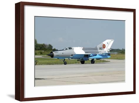 Mig-21 Lancer of the Romanian Air Force-Stocktrek Images-Framed Art Print