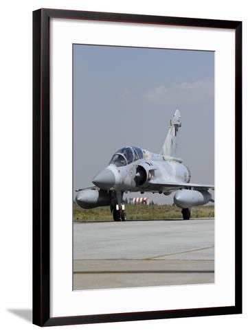 A Mirage 2000-5Dda from the Qatar Emiri Air Force Taxiing at Konya Air Base-Stocktrek Images-Framed Art Print