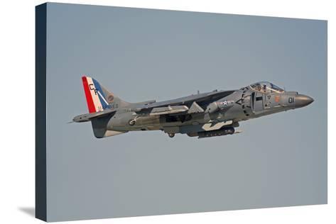 Av-8B Harrier Flying over Nellis Air Force Base, Nevada-Stocktrek Images-Stretched Canvas Print
