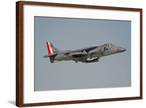 Av-8B Harrier Flying over Nellis Air Force Base, Nevada-Stocktrek Images-Framed Art Print