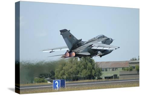 Tornado Ecr of the German Air Force Taking Off from Lechfeld Air Base-Stocktrek Images-Stretched Canvas Print