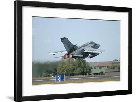 Tornado Ecr of the German Air Force Taking Off from Lechfeld Air Base-Stocktrek Images-Framed Art Print