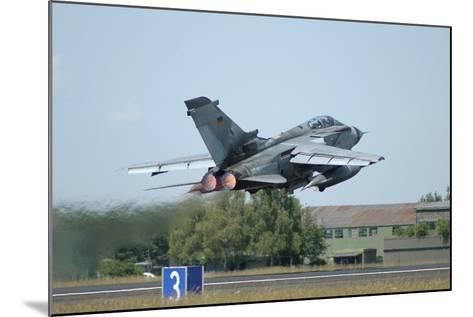 Tornado Ecr of the German Air Force Taking Off from Lechfeld Air Base-Stocktrek Images-Mounted Photographic Print