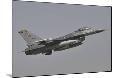 A Turkish Air Force F-16C Taking Off During Exercise Anatolian Eagle-Stocktrek Images-Mounted Photographic Print