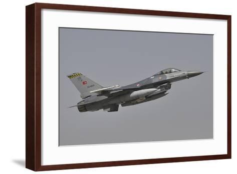 A Turkish Air Force F-16C Taking Off During Exercise Anatolian Eagle-Stocktrek Images-Framed Art Print