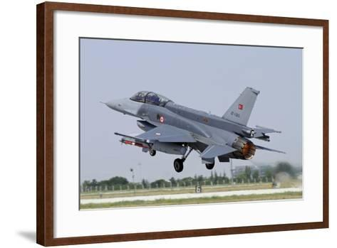 A Turkish Air Force F-16D Block 50+ Taking Off from Konya Air Base-Stocktrek Images-Framed Art Print
