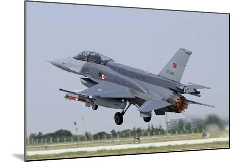 A Turkish Air Force F-16D Block 50+ Taking Off from Konya Air Base-Stocktrek Images-Mounted Photographic Print