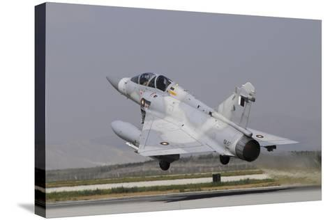 A Mirage 2000-5Dda from the Qatar Emiri Air Force Taking Off-Stocktrek Images-Stretched Canvas Print