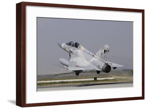 A Mirage 2000-5Dda from the Qatar Emiri Air Force Taking Off-Stocktrek Images-Framed Art Print