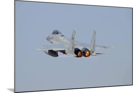 F-15 Eagle of the Royal Saudi Air Force Taking Off-Stocktrek Images-Mounted Photographic Print