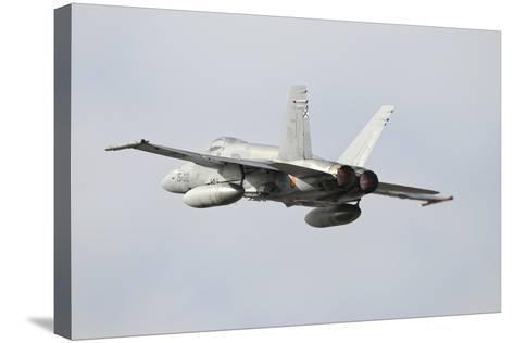 Spanish Air Force Ef-18M Hornet Taking Off-Stocktrek Images-Stretched Canvas Print