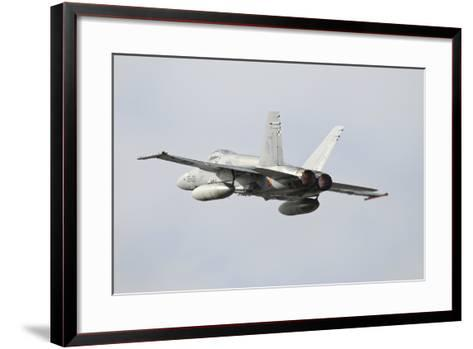 Spanish Air Force Ef-18M Hornet Taking Off-Stocktrek Images-Framed Art Print