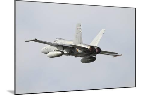 Spanish Air Force Ef-18M Hornet Taking Off-Stocktrek Images-Mounted Photographic Print