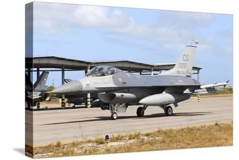 U.S. Air Force F-16C Taxiing at Natal Air Force Base, Brazil-Stocktrek Images-Stretched Canvas Print