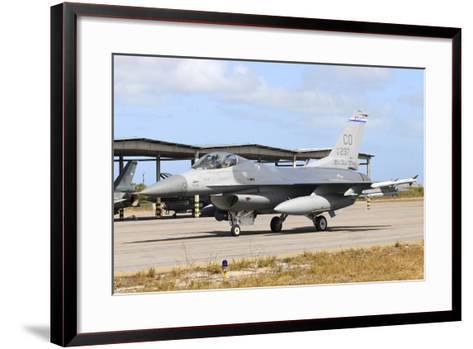 U.S. Air Force F-16C Taxiing at Natal Air Force Base, Brazil-Stocktrek Images-Framed Art Print