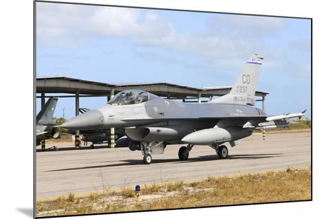 U.S. Air Force F-16C Taxiing at Natal Air Force Base, Brazil-Stocktrek Images-Mounted Photographic Print