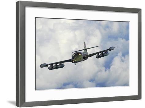 Uruguayan Air Force A-37 Dragonfly in Flight over Brazil-Stocktrek Images-Framed Art Print