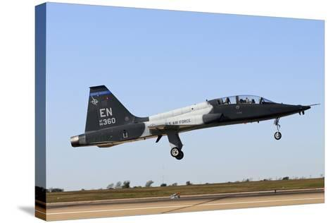 U.S. Air Force T-38 Talon Landing at Sheppard Air Force Base, Texas-Stocktrek Images-Stretched Canvas Print
