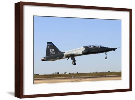 U.S. Air Force T-38 Talon Landing at Sheppard Air Force Base, Texas-Stocktrek Images-Framed Art Print