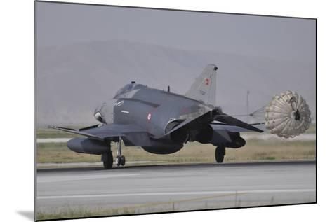 A Turkish Air Force F-4E 2020 Terminator Deploys its Drag Chute Upon Landing-Stocktrek Images-Mounted Photographic Print