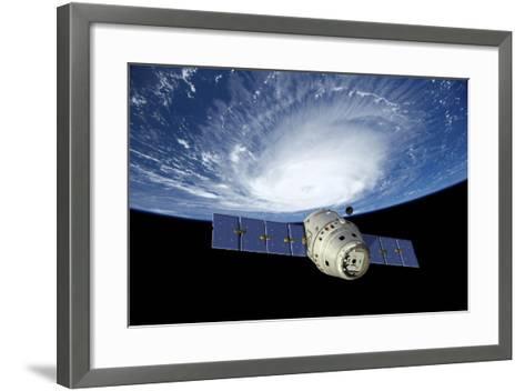 Reusable Crew Capsule in Low Earth Orbit-Stocktrek Images-Framed Art Print