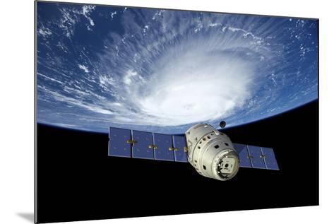 Reusable Crew Capsule in Low Earth Orbit-Stocktrek Images-Mounted Art Print