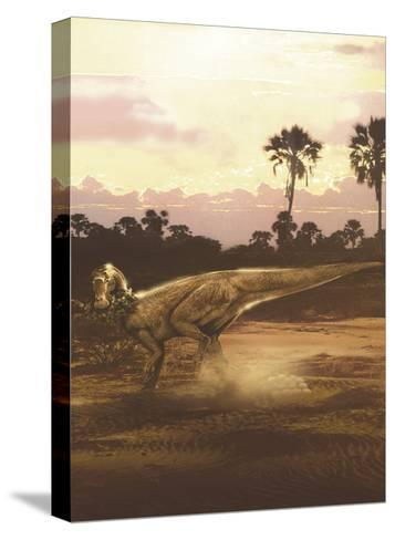Maiasaura Duckbill Dinosaur Laying Eggs in a Nest-Stocktrek Images-Stretched Canvas Print