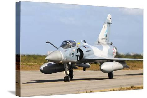 French Air Force Mirage 2000 Taxiing at Natal Air Force Base, Brazil-Stocktrek Images-Stretched Canvas Print