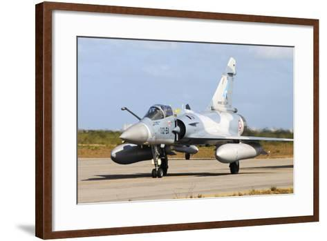 French Air Force Mirage 2000 Taxiing at Natal Air Force Base, Brazil-Stocktrek Images-Framed Art Print