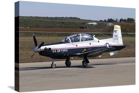 U.S. Air Force T-6A Texan Ii at Sheppard Air Force Base, Texas-Stocktrek Images-Stretched Canvas Print