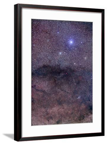 The Coalsack and Jewel Box Cluster in the Southern Cross-Stocktrek Images-Framed Art Print