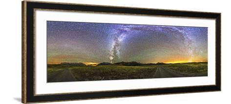 Panorama of the Milky Way and Night Sky at Waterton Lakes National Park, Canada-Stocktrek Images-Framed Art Print