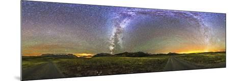 Panorama of the Milky Way and Night Sky at Waterton Lakes National Park, Canada-Stocktrek Images-Mounted Photographic Print
